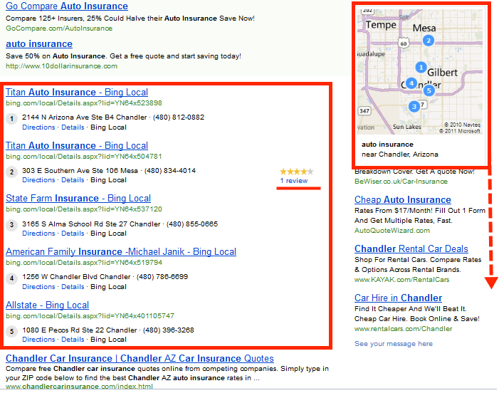 New Bing expanded results