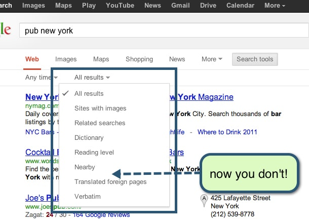 New Google Search Results Layout