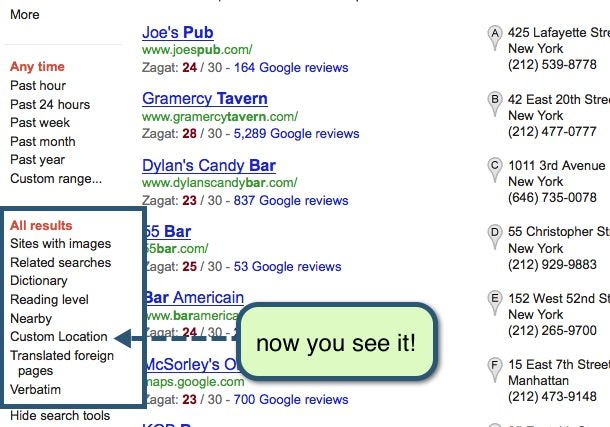 Old Google Search results Layout