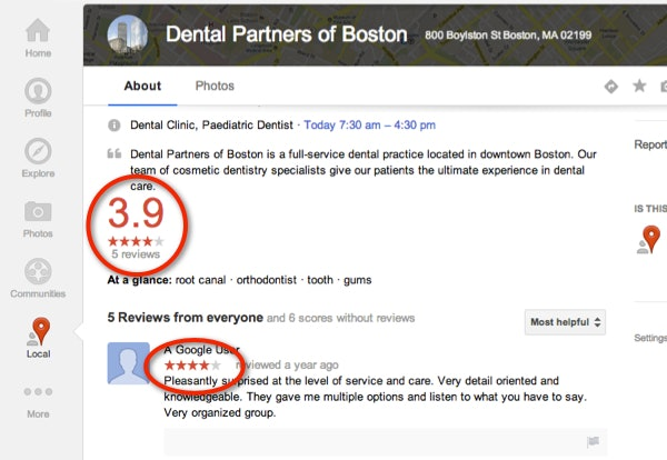 Google+ Local page design updates