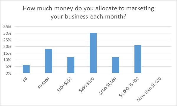 Monthly budget for business marketing