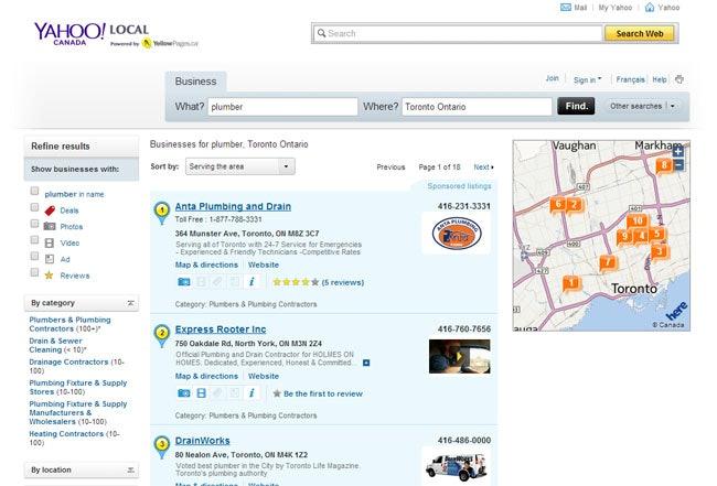 Yahoo Local Canada