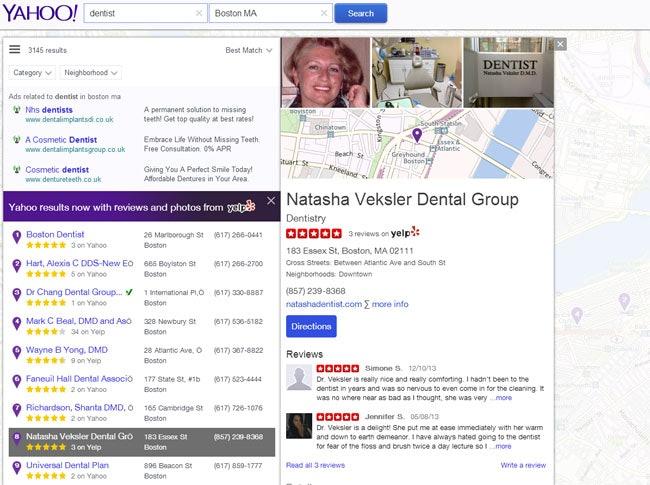 Yahoo with Yelp