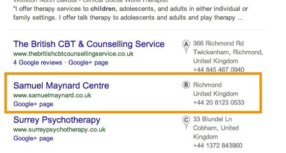 Hide address Google blended results