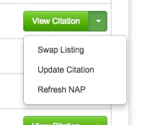 Swap or update Citation listing shown on Citation report