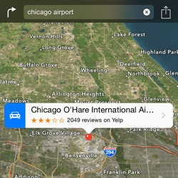 Apple maps versus Yahoo maps