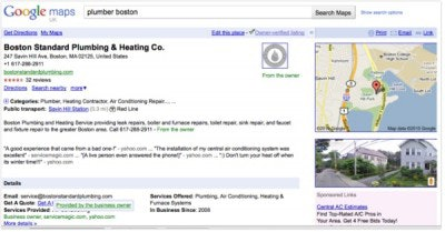 Google Places business listing