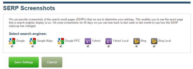 SERP Screenshots