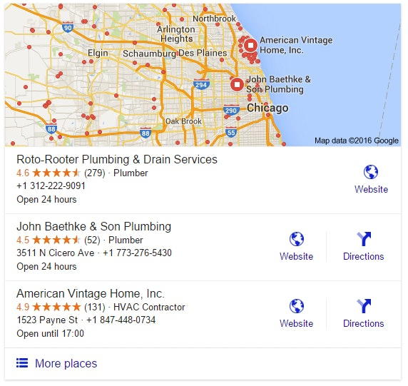 Google Local 3 Pack