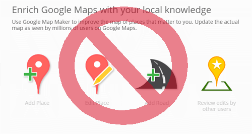Google suspends Map Maker