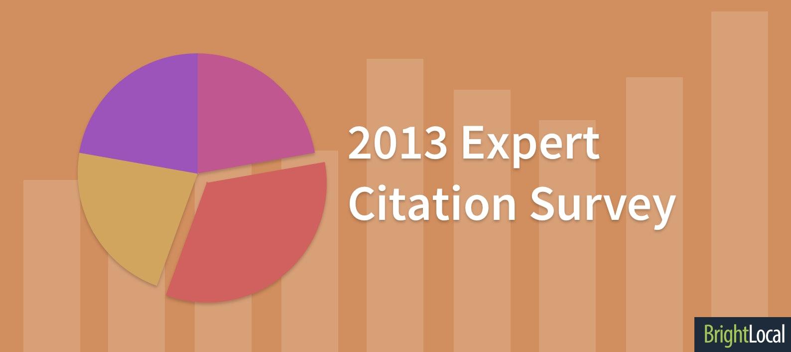 Expert Local Citation Survey 2013
