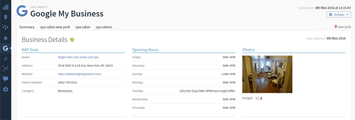 Google my business optimization tool