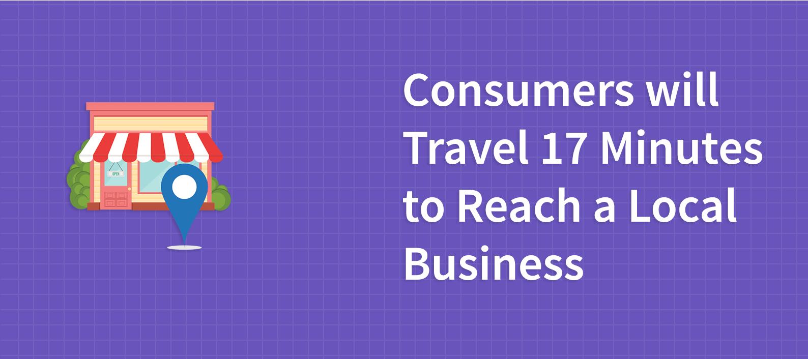 Consumers will Travel 17 Minutes to Reach a Local Business