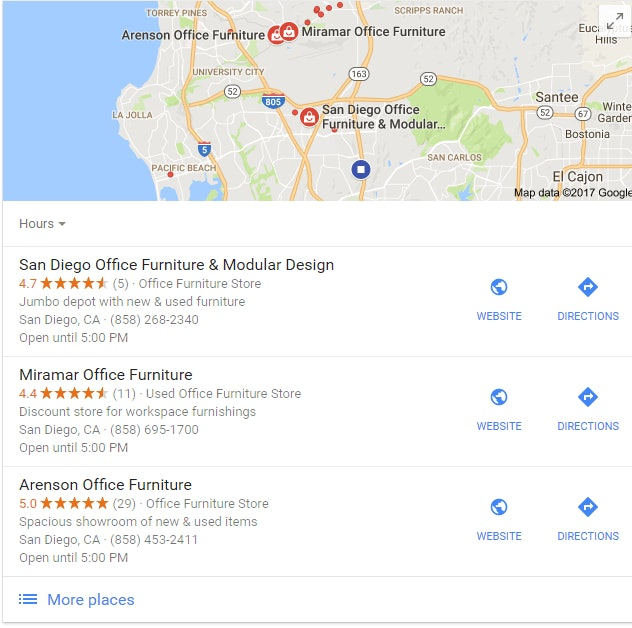 Local Ranking Factors: Google Local 3 Pack