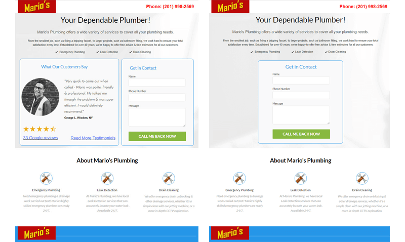 landing-pages-with-and-without-online-reviews