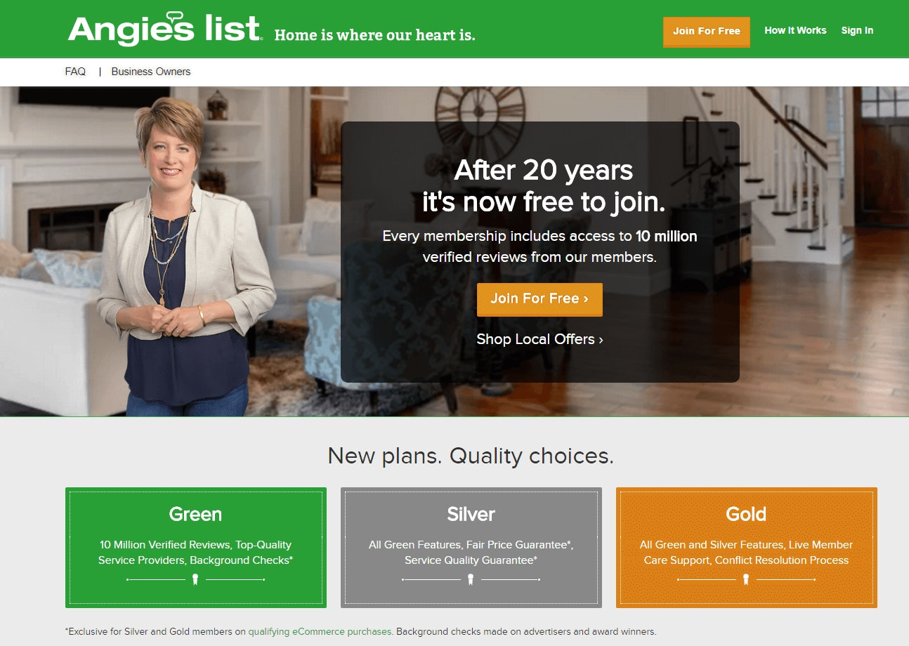 Angie's List Home Improvement Review Site