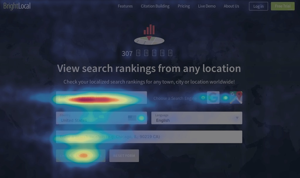 Heatmapping tools from Hotjar