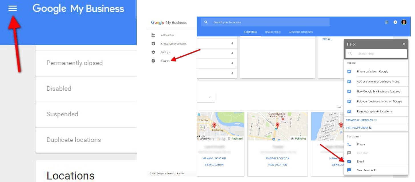 How to contact Google My Business