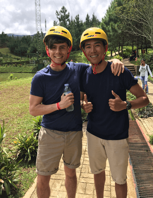 Matt & Neil on a recent team outing to Dahilayan Forest Park
