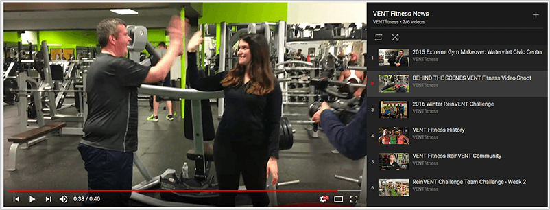 Vent Fitness Local Video