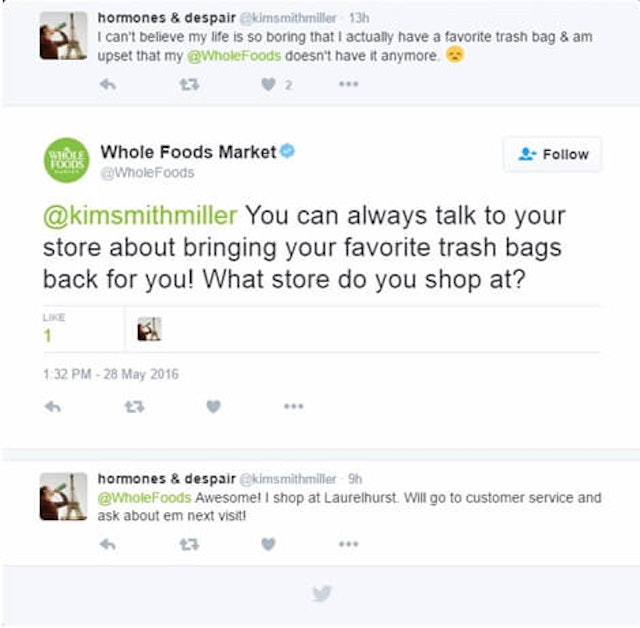 Whole Food example of responding to negative reviews