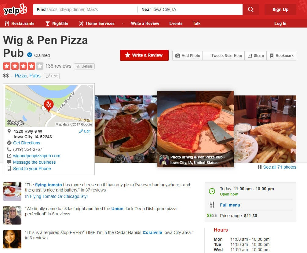 Yelp Restaurant Review