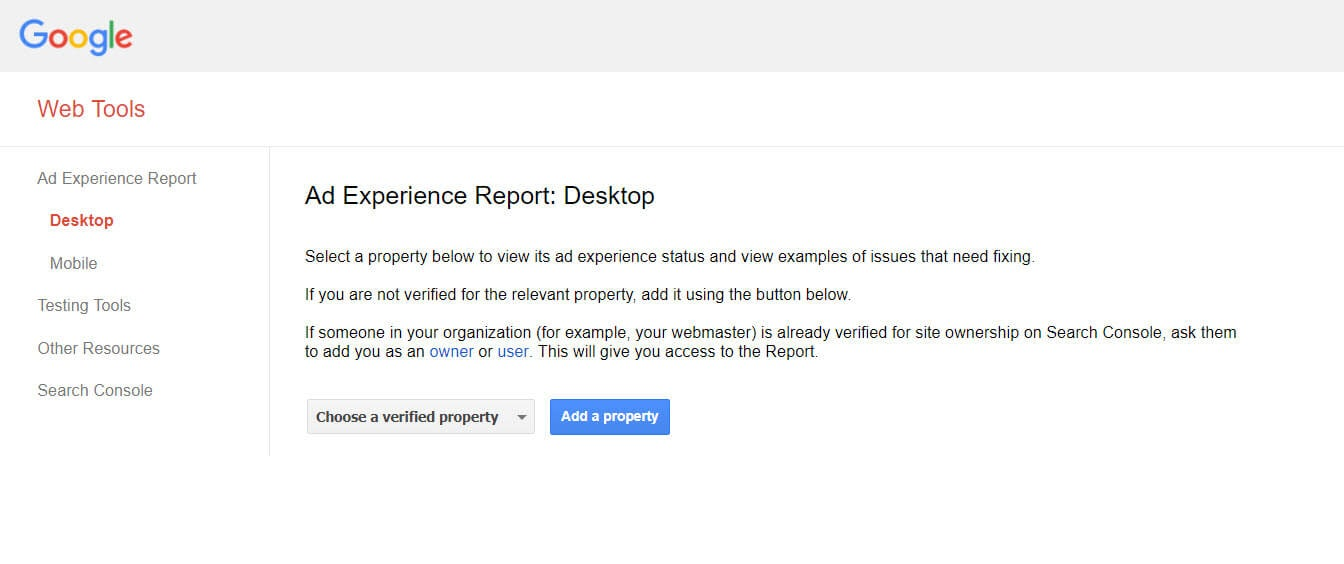 Ad Experience Report