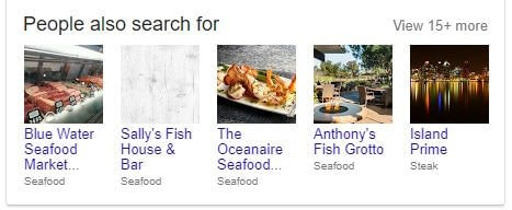 Google My Business People Also Search For example