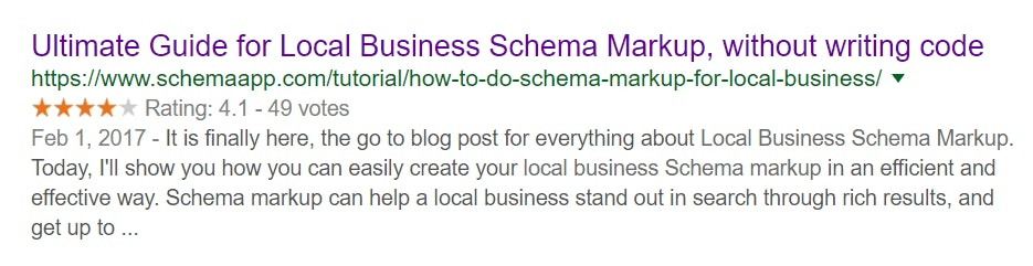 Local Business Schema Markup