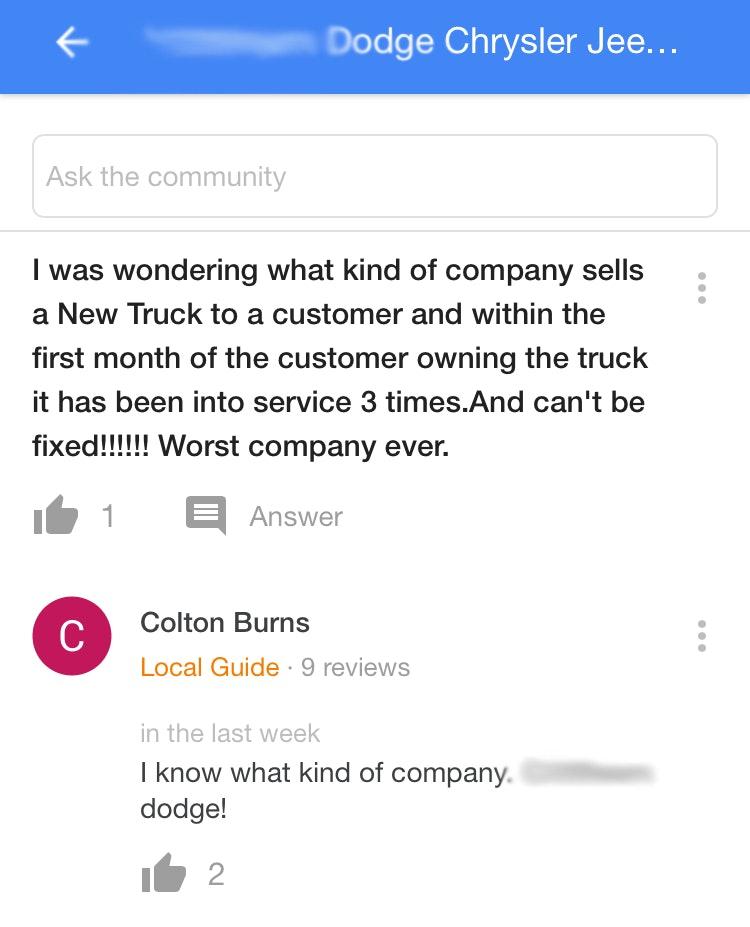 Dodge Q&A
