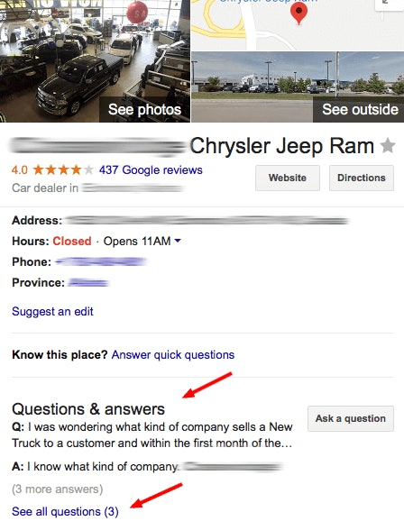 Google My Business Q&A: The New Knowledge Panel Feature That You Might Just Hate or Love - 1