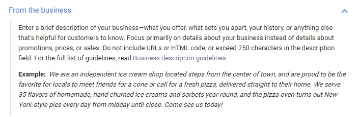 Google My Business (GMB) Text