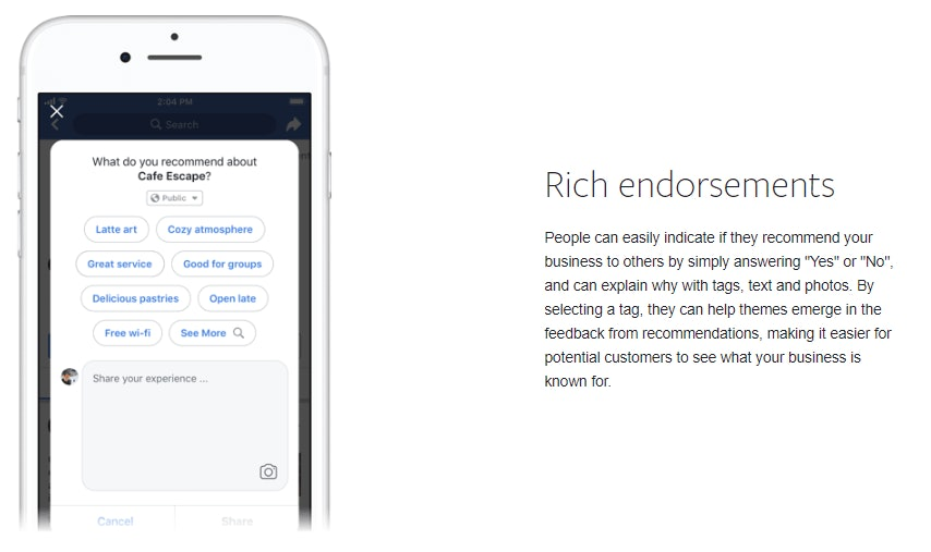 Rich endorsements