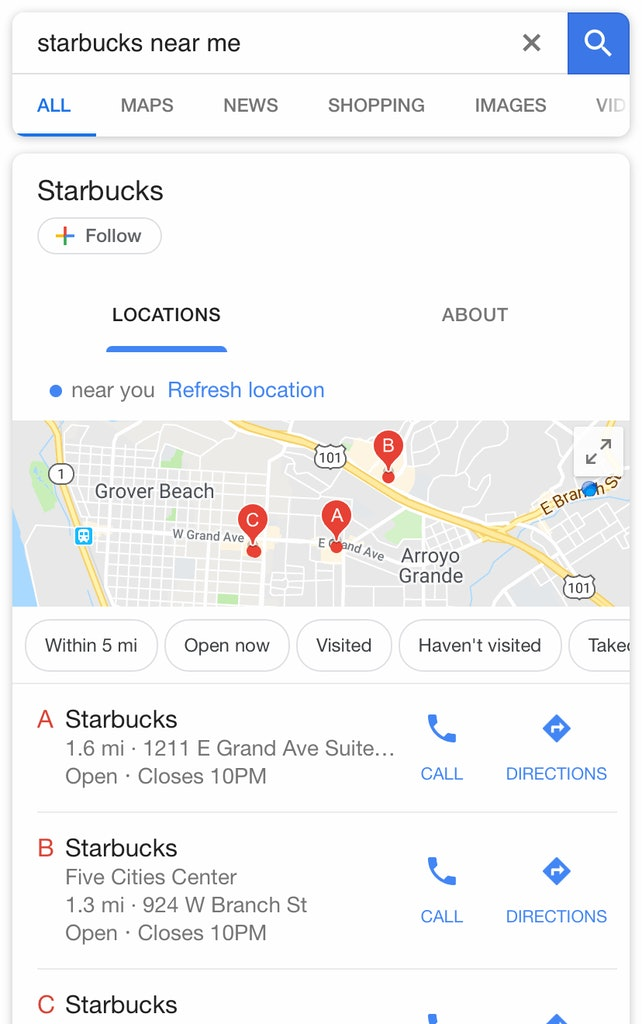 Starbucks Branded Searches
