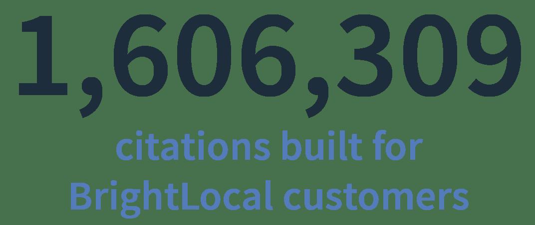 BrightLocal citations built in 2018