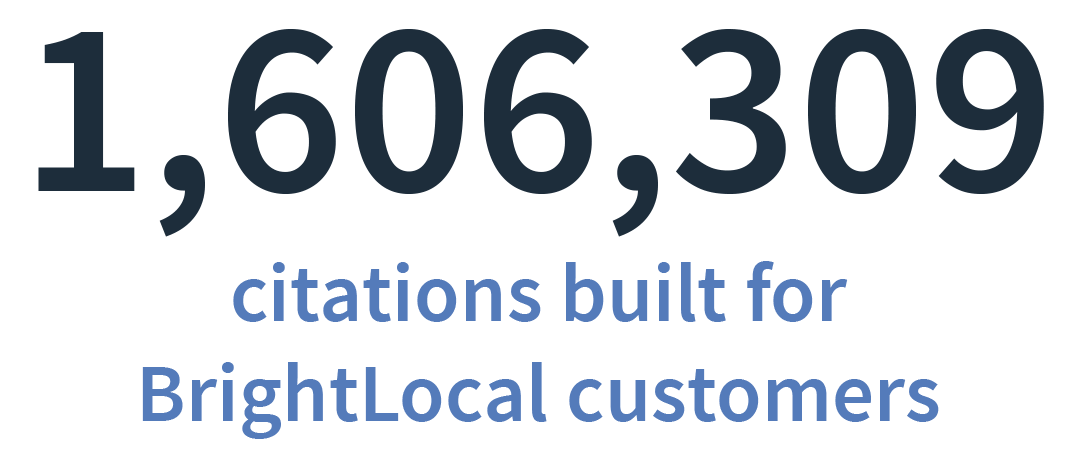 BrightLocal citations built in 2018