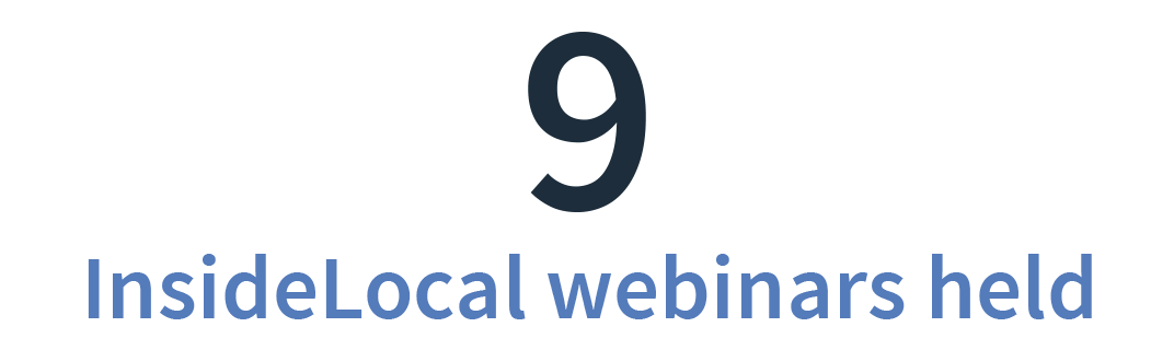BrightLocal InsideLocal Webinars held in 2018