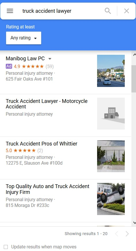 Truck Accident GMB Spam