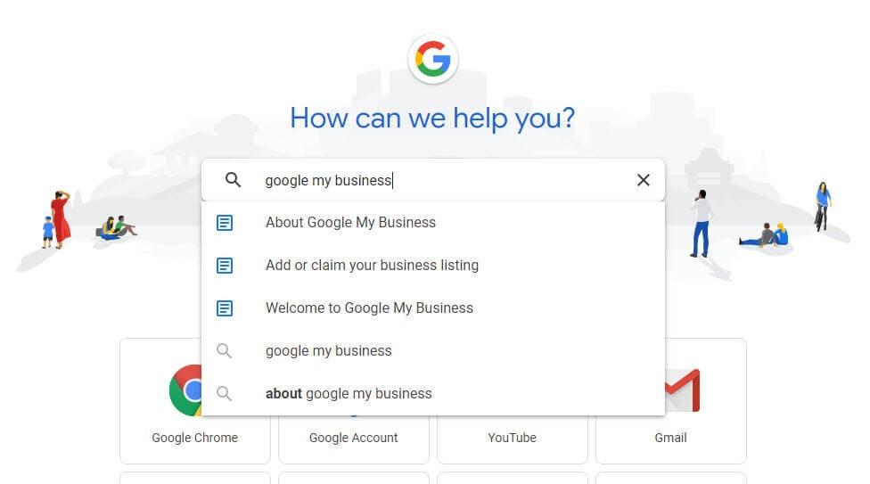 Google Support Screenshot