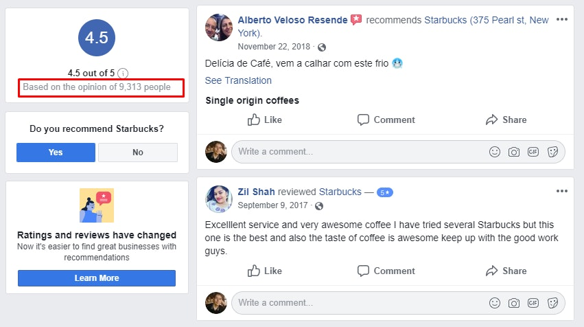 Starbucks Reviews Recommendations