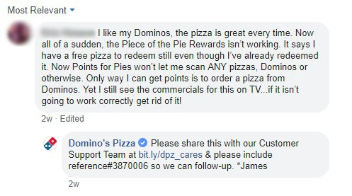 Dominos Complaint 2