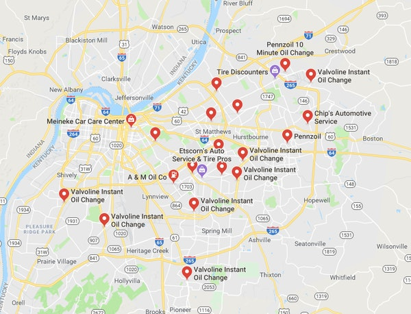 Brand dominating cities on Google maps