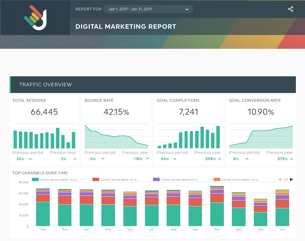 DashThis digital marketing reporting