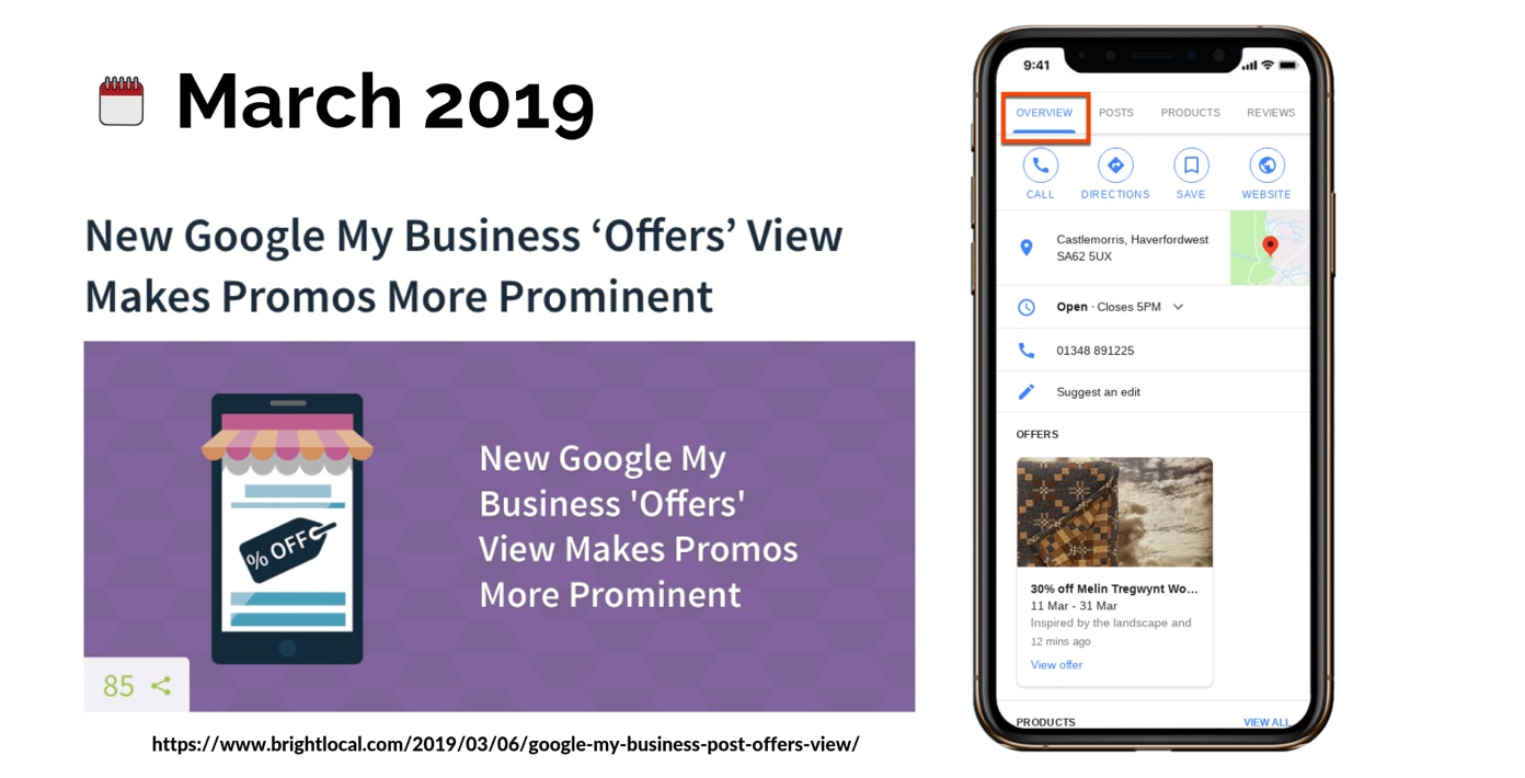 Google Offers Posts Move to Overview Tab Overview