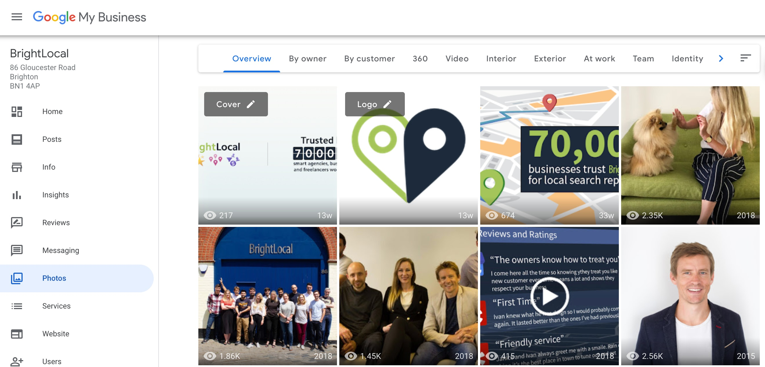 Google My Business photo samples