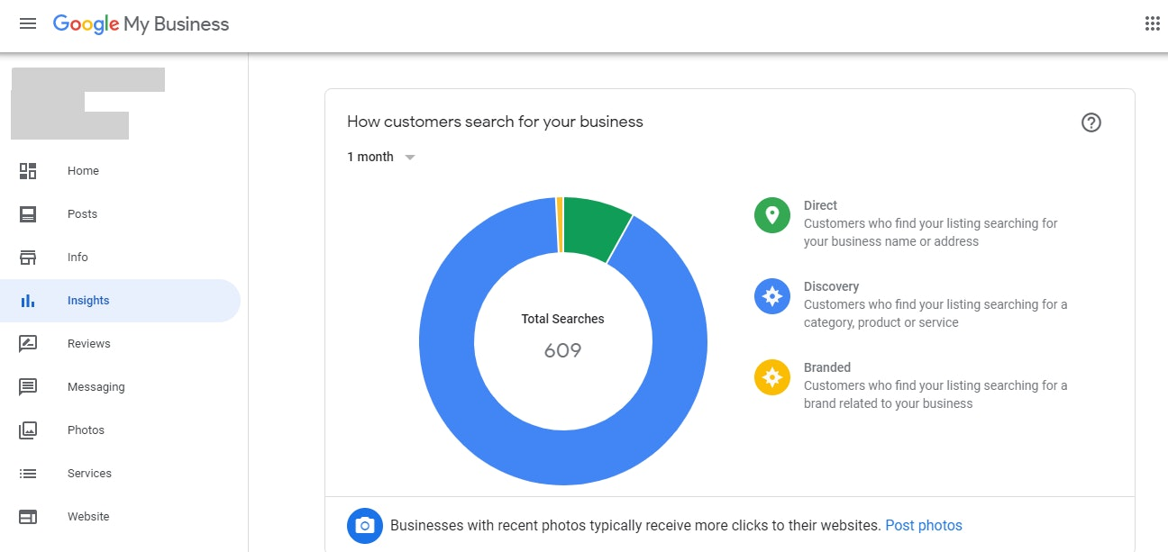 GMB Insights how customers search for your business