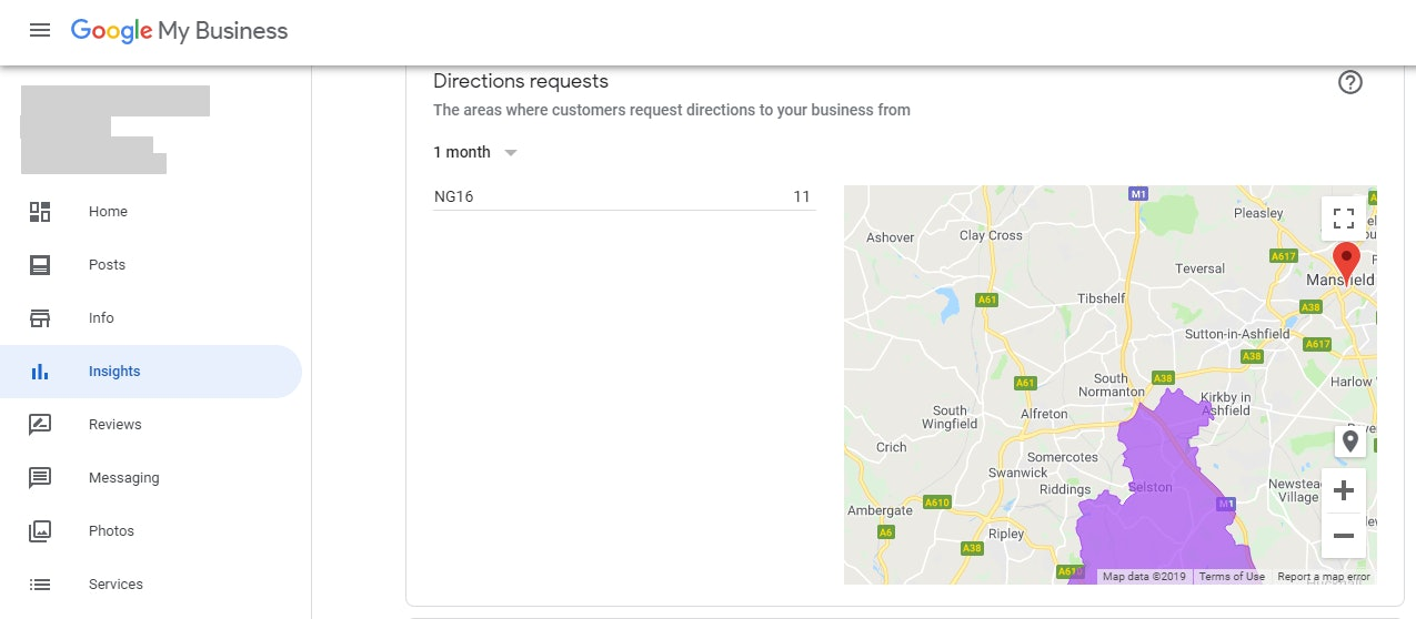 GMB Insights Map Requests