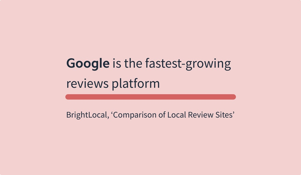 Online Reviews Statistics - BrightLocal Comparison of Local Review Sites
