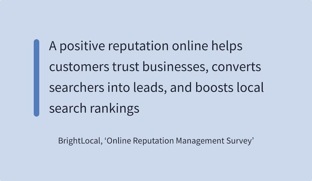 Online Reviews Statistics - BrightLocal Online Reputation Management Survey