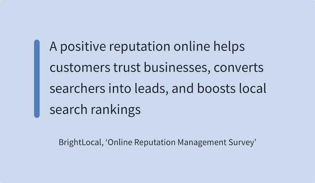 Online Reviews Statistics - BrightLocal Online Reputation Management Survey